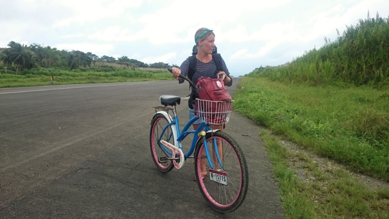 Riding bikes on the airstrip